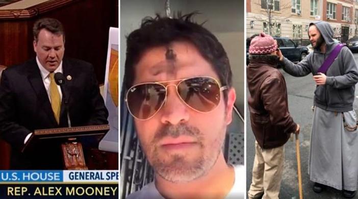 Políticos, artistas y misioneros impactan las redes en Miércoles de Ceniza