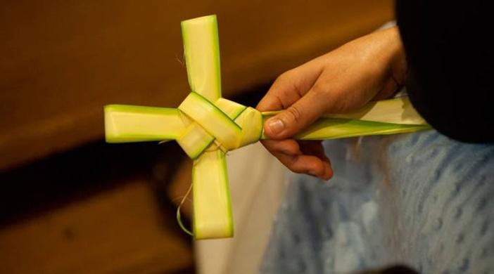 Oración para colocar en el hogar las palmas del Domingo de Ramos