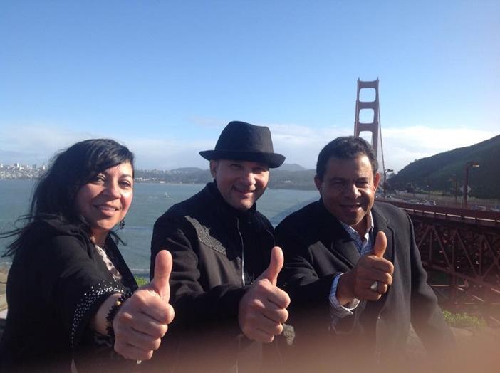 """Lidia Bonilla, Josemiguel Vargas y Raphy Rey, parte de la Directiva """"Radio Catolica Internacional"""" desde Oakland (California)"""