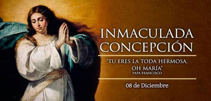 Hoy celebramos la Inmaculada Concepción de la Santísima Virgen María
