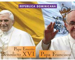 """RD: """"INPOSDOM"""" Pone en circulación emisión postal alusivas a los Pontífices Benedicto XVI y Francisco"""